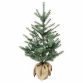 ВИНТЕР 2020 Искусственное растение в горшке, д/дома/улицы джут, рождественская елка зелено-синий, 19 см