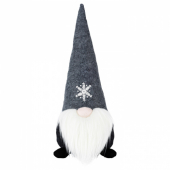 ВИНТЕР 2020 Украшение, Санта Клаус серый, 35 см