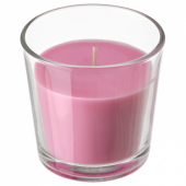 СИНЛИГ Ароматическая свеча в стакане, Вишневый, ярко-розовый, 7.5 см