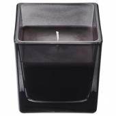 ФРАМФЭРД Ароматическая свеча в стакане, сосна, черный, 8 см