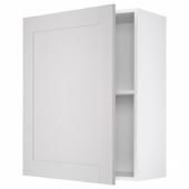 КНОКСХУЛЬТ Навесной шкаф с дверцей, серый, 60x75 см