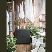 ГРИЛЛЬСКЭР Модуль с мойкой, черный, нержавеющ сталь для сада, 86x61 см