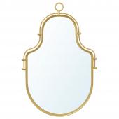 ЭНГАБУДА Зеркало, золотой, 43x28 см
