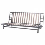 БЕДИНГЕ Каркас дивана-кровати 3-мест, серебристый