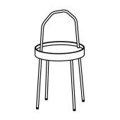 БУРВИК Придиванный столик, белый, 38 см