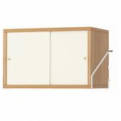 СВАЛЬНЭС Шкаф с 2 дверьми, бамбук, белый, 61x35 см