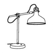 РАНАРП Лампа рабочая, белый с оттенком