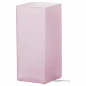 ГРЁНЕ Лампа настольная, матовое стекло розовый