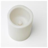 ГОДАФТОН Светодиодная формовая свеча, 2 шт., с батарейным питанием серый