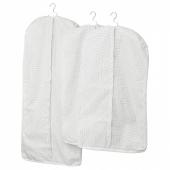 СТУК Чехол для одежды, 3 штуки, белый/серый