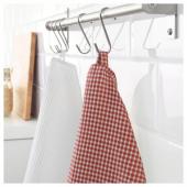 ТРОЛЛЬПИЛ Полотенце кухонное, белый, красный, 50x70 см