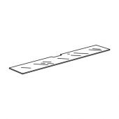 БЕСТО Верхняя панель д/ТВ, стекло белый, 180x40 см