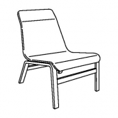 НОЛЬМИРА Кресло, березовый шпон, серый