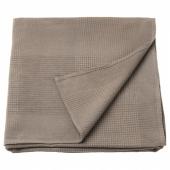 ИНДИРА Покрывало, светло-коричневый, 150x250 см