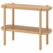 ЛИСТЕРБИ Консольный стол, белая морилка дуб, 92x38x71 см