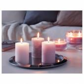 ЛУГГА Формовая свеча, ароматическая, Цветение розовый, 10 см