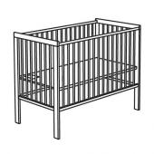 ГУЛЛИВЕР Кроватка детская, белый, 60x120 см