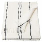 СТИНАМАЙ Плед, белый, темно-серый, 130x170 см