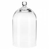 МОРГОНТИДИГ Стеклянный клош, прозрачное стекло, 18 см