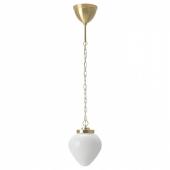 ОТЕРСКЕН Подвесной светильник, молочный стекло, лук