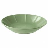 СТРИММИГ Тарелка глубокая, каменная керамика зеленый, 23 см