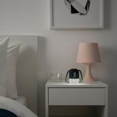 ФНУРРА Будильник с подсветкой, серый, 10 см