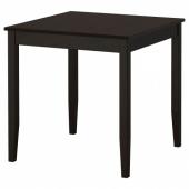 ЛЕРХАМН Стол, черно-коричневый, 74x74 см