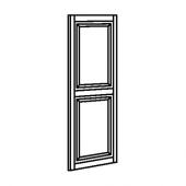 БУДБИН Дверь, темно-зеленый, 60x140 см
