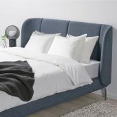 ТЮФЬЁРД Каркас кровати с обивкой, Гуннаред синий, 160x200 см