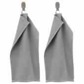 КОРНАН Полотенце, серый, 30x50 см