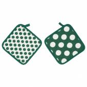 АЛЬВАЛИЗА Прихватка, зеленый, белый, 23x23 см