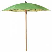 СОЛБЛЕКТ Зонт от солнца, орнамент «пальма» зеленый, 185 см