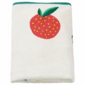 ВЭДРА Чехол на пеленальную подстилку, орнамент «фрукты/овощи», 74x48 см