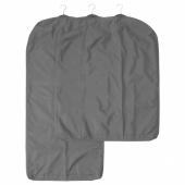 СКУББ Чехол для одежды, 3 штуки, темно-серый