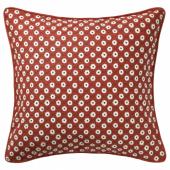 СНЁБРЭККА Чехол на подушку, красный белый, цветочный орнамент, 50x50 см