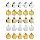 ВИНТЕР 2020 Украшение, шар, стекло золотой, белый, 3.5 см