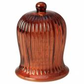 СТРОЛА Светодиодное настольное украшение, с батарейным питанием, форма колокола оранжевый