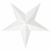 СТРОЛА Абажур, точечный белый, 70 см