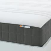 ХОВОГ Матрас с пружинами карманного типа, очень жесткий, темно-серый, 180x200 см