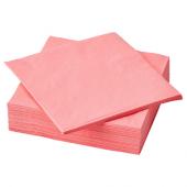 ФАНТАСТИСК Салфетка бумажная, светлый красно-розовый, 40x40 см
