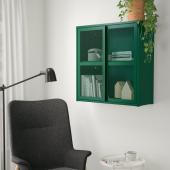 ИВАР Шкаф с дверями, зеленый сетка, 80x83 см