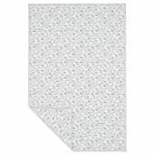 ЛУРВИГ Одеяло, белый, черный, 100x150 см