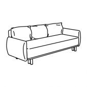 ГРУННАРП 3-местный диван-кровать, Гуннаред светлый коричнево-розовый