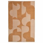 РЁДАСК Ковер безворсовый, светло-коричневый, 133x195 см