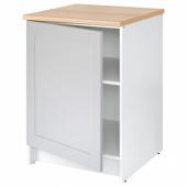 КНОКСХУЛЬТ Напольный шкаф с дверью, серый, 60 см