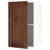 КНОКСХУЛЬТ Навесной шкаф с дверцей, под коричневый мореный ясень, 40x75 см