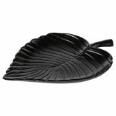 КНАСТРИГТ Украшение, лист, черный, 22x16 см