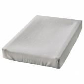 ВЭДРА Чехол на пеленальную подстилку, точечный, серый, 48x74 см