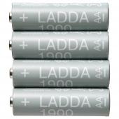 ЛАДДА Аккумуляторная батарейка, HR06 AA 1,2 В, 1900 мА•ч