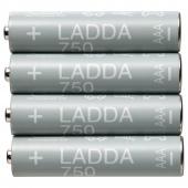 ЛАДДА Аккумуляторная батарейка, HR03 AAA 1,2 В, 750 мА•ч